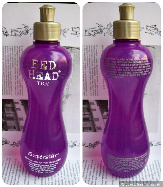 Tigi Bed Head Superstar Blow Dry Lotion