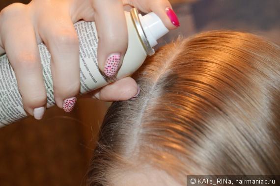 Кода куда попадает лак для волос шелушится