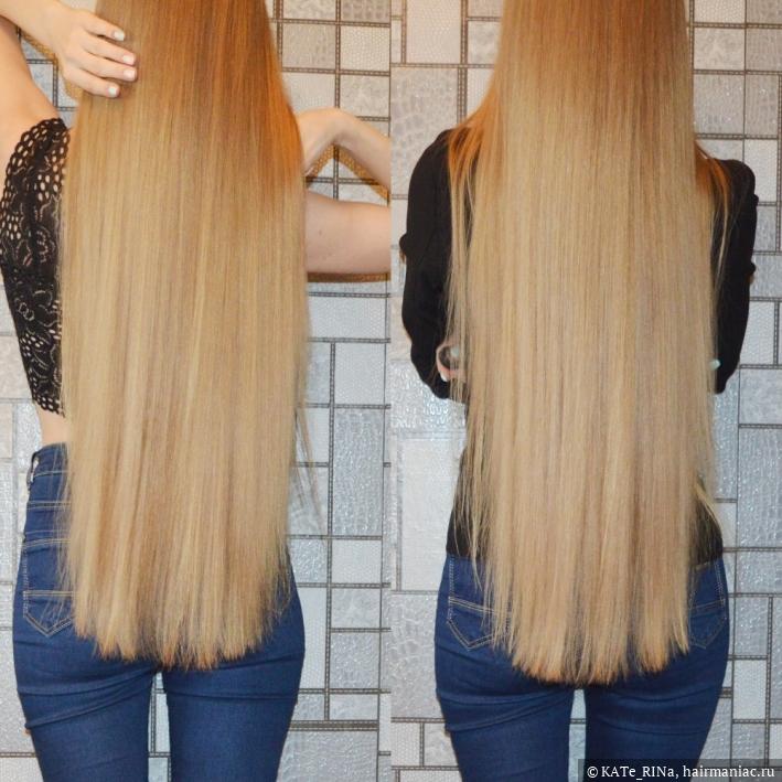 волосы ДО стрижки