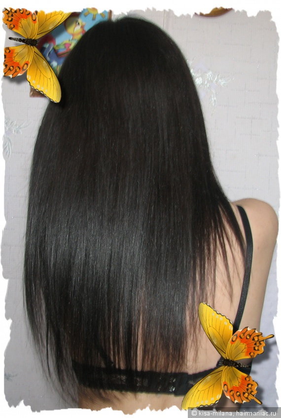 Цвет волос темный графит