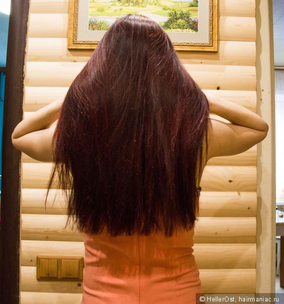 фото волос без вспышки,помыты,окрашены хной.