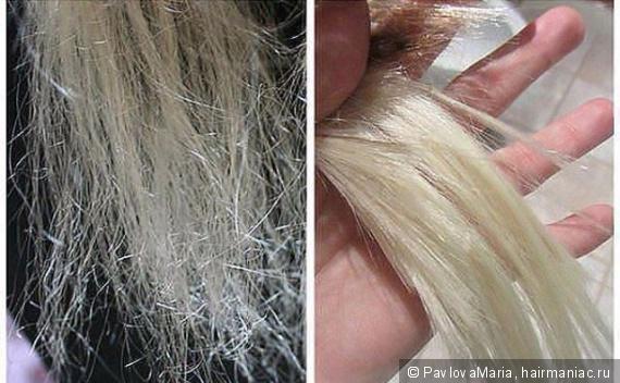 сожжённые волосы фото