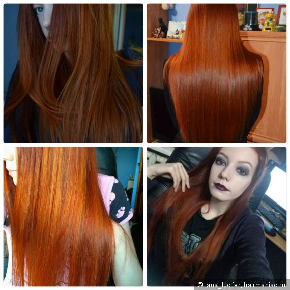 Поддержание рыжего цвета волос