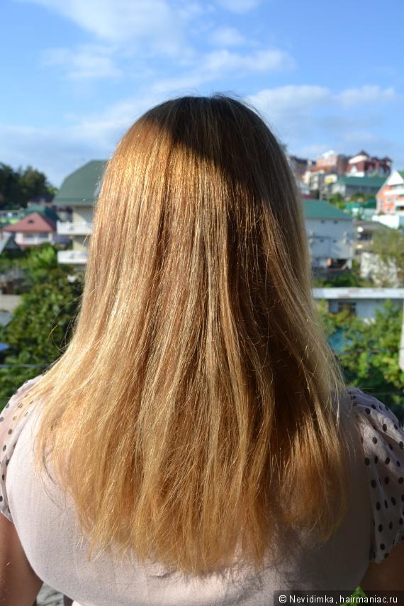 Волосы после шампуня, гидролата Лаванды и твердого масла для кончиков волос DNC