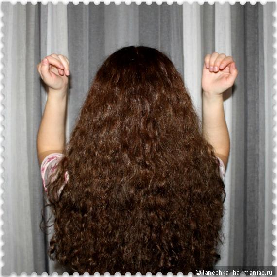 Волосы после крема и молочка + масло хаск