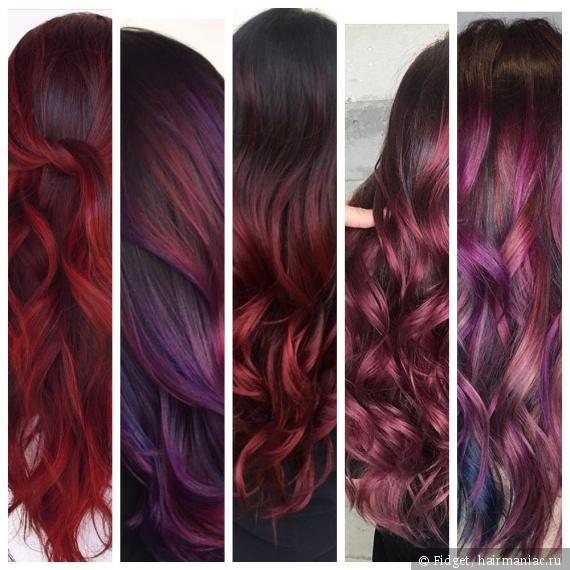 волосы цвета глинтвейн