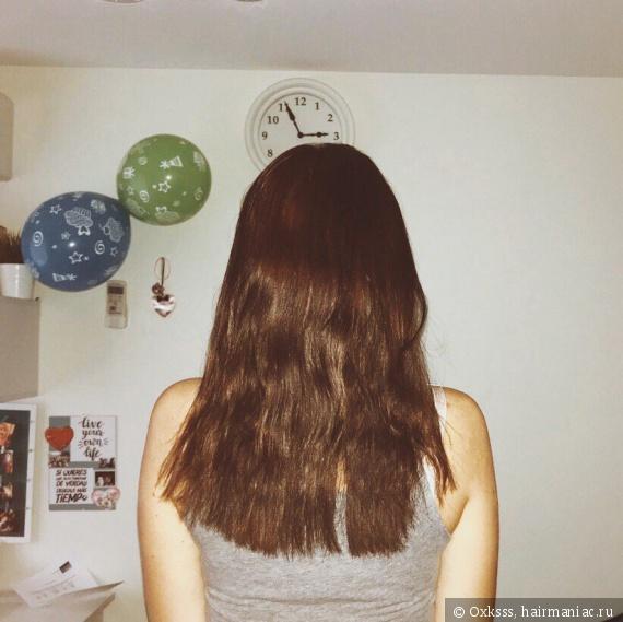 Волосы сейчас после косички