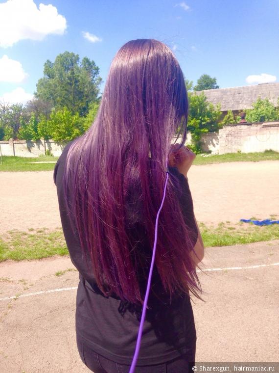 Фиолетовая тоника на русые волосы