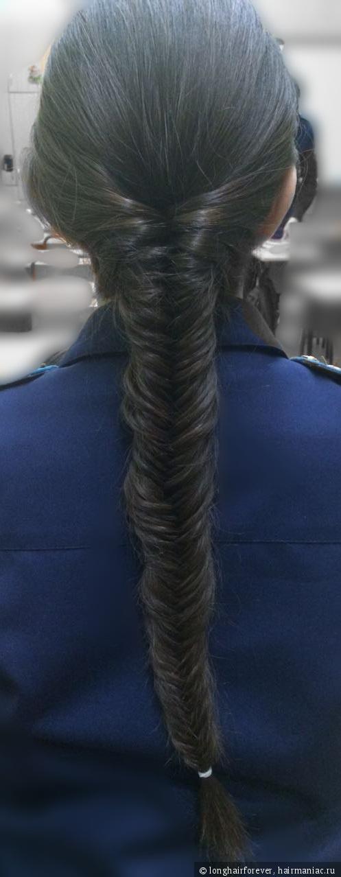 причёска рыбий хвост на моих волосах