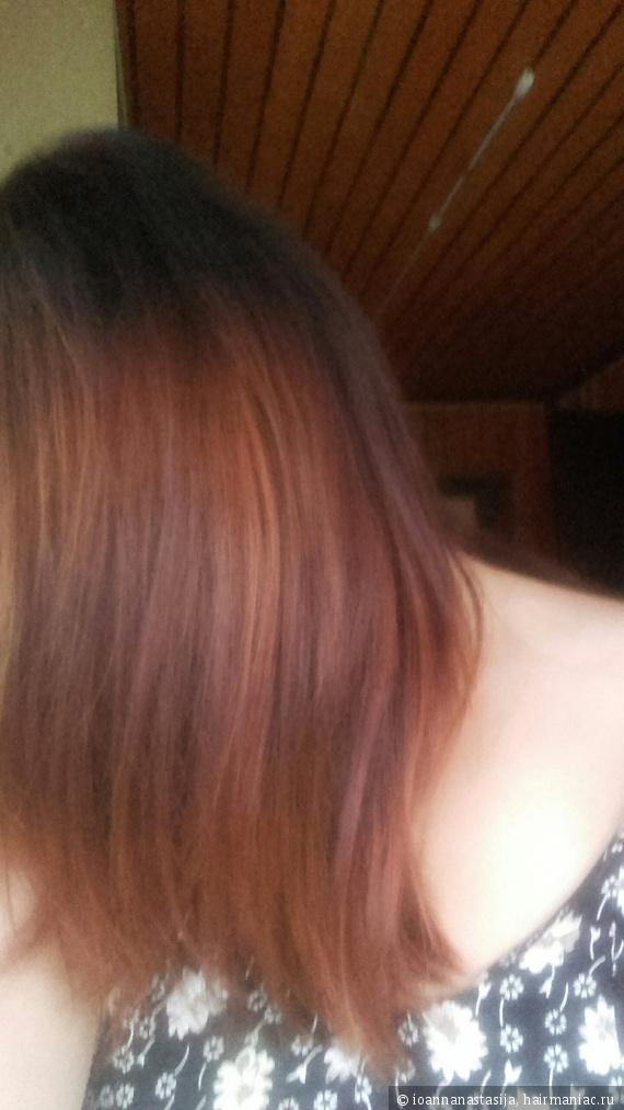 волосы гладкие, цвет посвежее, чем после окрашивания краской